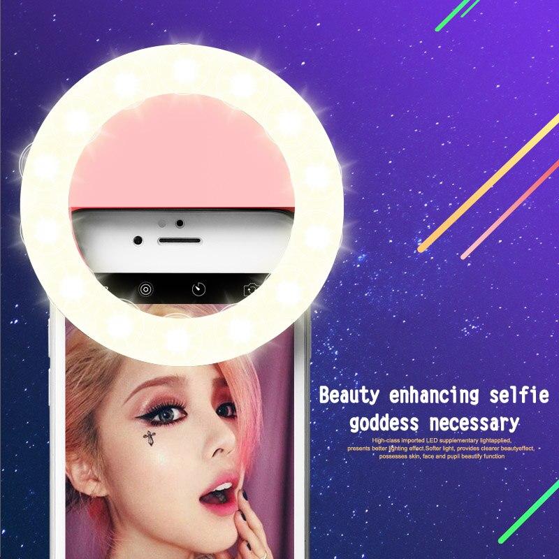 Yeni Moda Şarj Edilebilir selfie halka ışık Klip LED selfie flaş - Kamera ve Fotoğraf - Fotoğraf 4