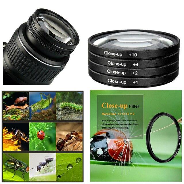 58mm מקרוב ערכת סינון עבור Canon EOS 4000D 3000D 2000D 1500D 1300D 90D 77D 80D 200D 250D 760D 800D 1200D 100D 18 55mm עדשה