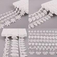 Ruban de dentelle blanche fait à la main, 1yard/lot, ruban de dentelle, matériel pour Patchwork, fournitures de couture de vêtements, artisanat, nouveau Style