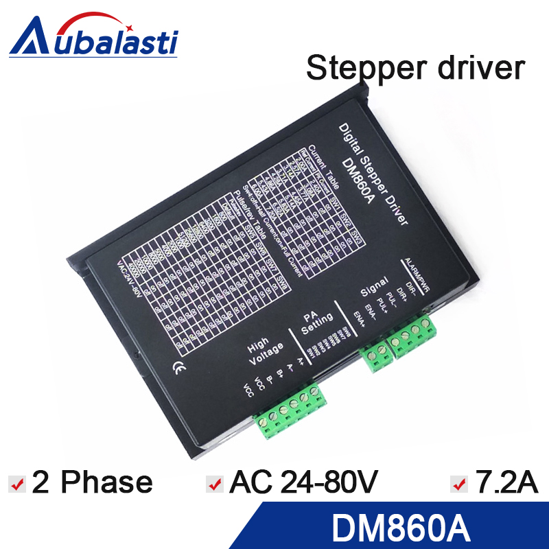 AC-DC Digital 86 stepper motor controller intelligent 2 phase stepper driver DM860A 1pc dm860a stepper motor driver 256microsteps for 2 phase hybrid 86 motors