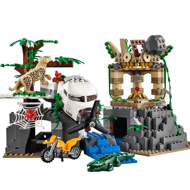 Lepin 02061 City Series Exploration of Jungle Building Blocks Set 60161 Educational Toys For Children Christmas Gift Legoings lepin 02012 774pcs city series deepwater exploration vessel children educational building blocks bricks toys model gift 60095