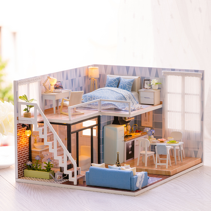 Cutebee Doll House Furniture Miniature Dollhouse DIY Miniature House Room Box Theatre Toys for Children Casa DIY Dollhouse CCutebee Doll House Furniture Miniature Dollhouse DIY Miniature House Room Box Theatre Toys for Children Casa DIY Dollhouse C