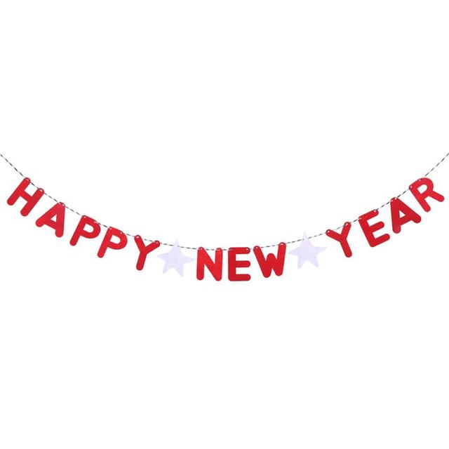 2 meters fabric happy new year banner decorations hanging bunting garland streamer shop home party decor
