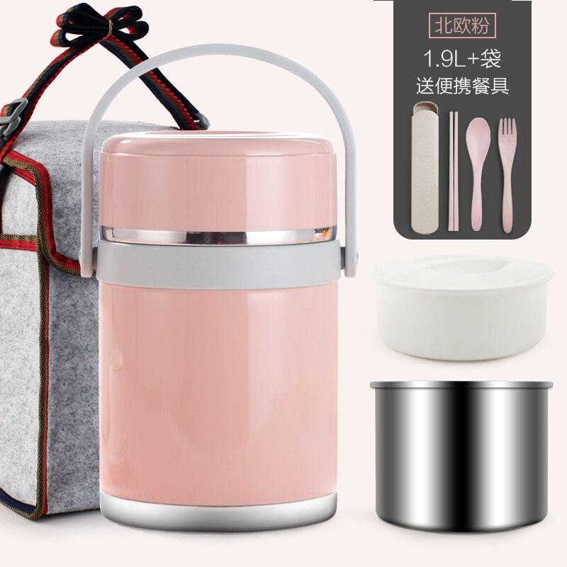 Mode boîte à Lunch japonaise Bento Thermos flacon conteneur pour nourriture en acier inoxydable Table Ware stockage boîte à Lunch pour pique-nique école