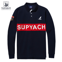 SUPYACH Men S Brand Clothing Casual Classic Fit Polo Shirt Long Sleeve Breathable Cotton Polo Shirt