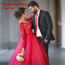 2017 Romantic Elegant Pink Ball Robe Night Clothes Sweetheart Lengthy Sleeve Tea- Size Applique Beaded Tulle Promenade Clothes Robe
