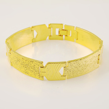 20CM Fashion Mens Womens  Bracelet 24K Gold Plating Yellow Color For Men Wholesale Party Jewelry