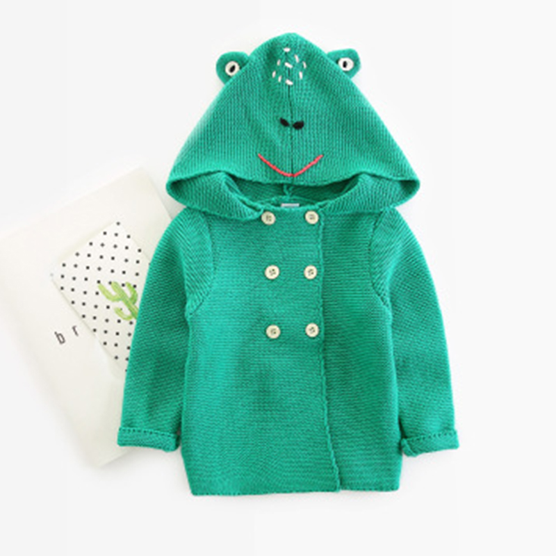 88bd8cf52 Winter Sweaters Baby Girls Cardigans Autumn Hooded Newborn Boys ...