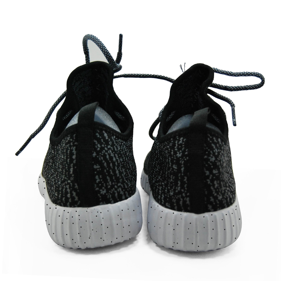 16 new black color sport shoes woman and man,new idea computer woven breathable sneakers woman & man,comfortable shoes 4