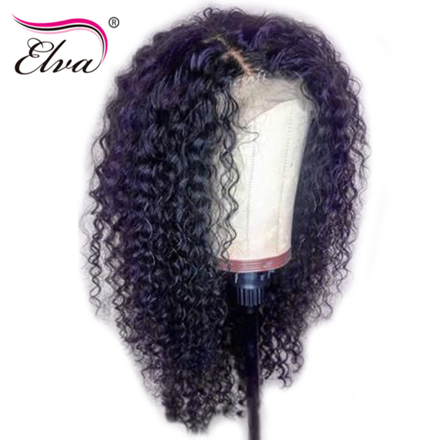 Elva Hair Full Lace Human Hair Wigs Pre Plucked Hairline With Baby Hair Brazilian Remy Hair Curly Full Lace Wigs Bleached Knots