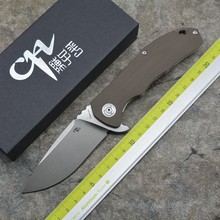 CH3504-G10 Flipper folding knife D2 blade ball bearing G0 + steel handle camping hunting pocket knife EDC tools