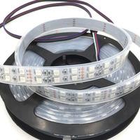 Express 100 шт. 5050 Водонепроницаемый RGB 5 м 600 LED двухрядные 5050 Водонепроницаемый RGB Светодиодные ленты с 1 м провода