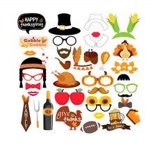 Вечерние реквизиты декоративные фотостудии бутафорская маска на палочке Усы украшения для Хэллоуин-вечеринки день благодарения праздник