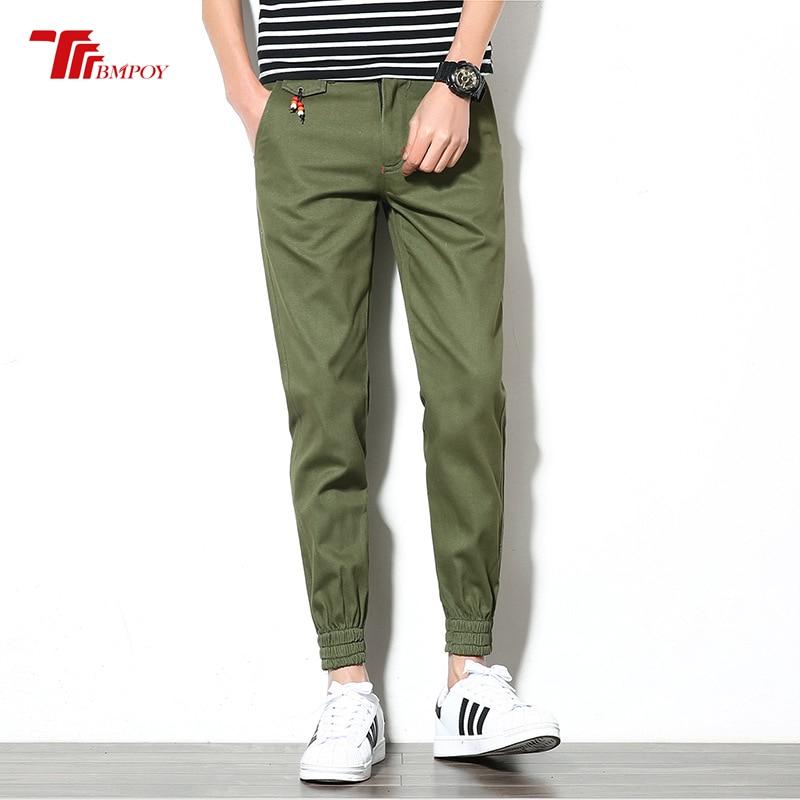 Joggers Men Cotton Pants Mens Khaki Jogger Pants Men's Cuffed Joggers Plus Size Long Trousers New Casual Long Pants