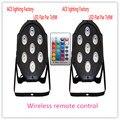 2 pieces Promotional Packaging Wireless remote control LED Par Tri 7X9W RGB