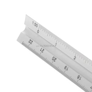 "Image 3 - 30cm אלומיניום מתכת משולש בקנה מידה אדריכל מהנדס טכני שליט 12 ""מדידה & כלים אומד R08 Whosale & DropShip"
