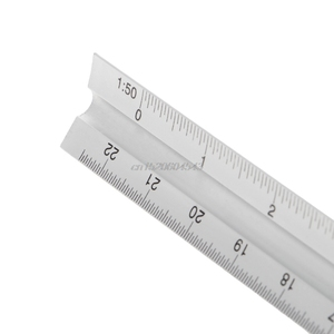 """Image 3 - 30cm de alumínio metal triângulo balança arquiteto engenheiro régua técnica 12 """"medição & calibragem ferramentas r08 whosale & dropship"""