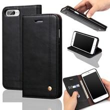 Пальца слайд карт бумажника case для iphone 7 iphone 6s plus 5S роскошные магнит кожа флип случаи обложка для коке iphone 7 plus iPhon7