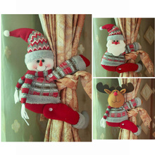 2018 Christmas Cartoon Santa Claus Snowman Elk Curtain Tieback Curtain Buckle Holder Bedroom Hook Fastener Clamp Home Decor