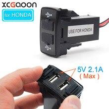 XCGaoon Special Dual 2 Port USB Car Charger for HONDA 5V 2 1A Car DC DC