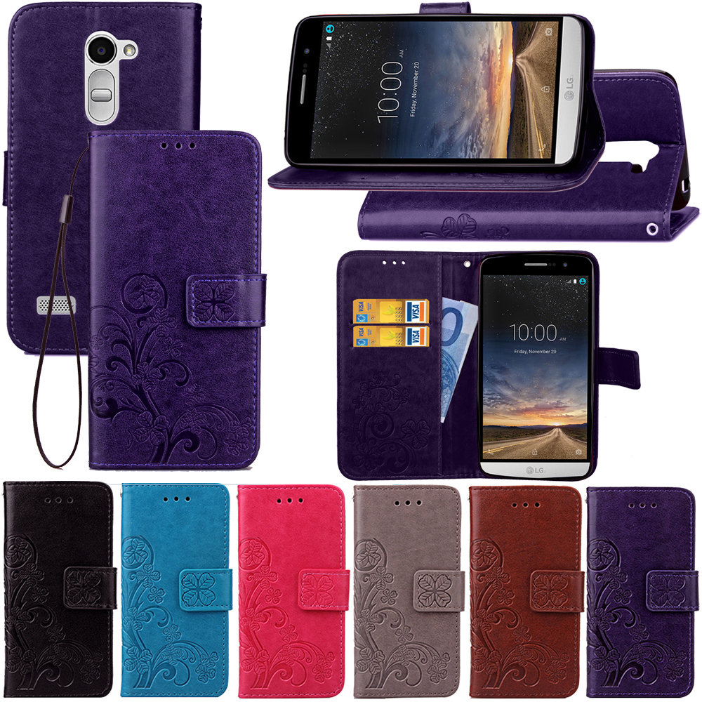 Limelan Lucky Four Clover Pattern Retro Pu Leather Flip Silikon Soft Case Lg V20 Nillkin Nature Ultrathin 06mm Original Phone For Ray X190 With Card Slot Wallet Stand Bags Cover