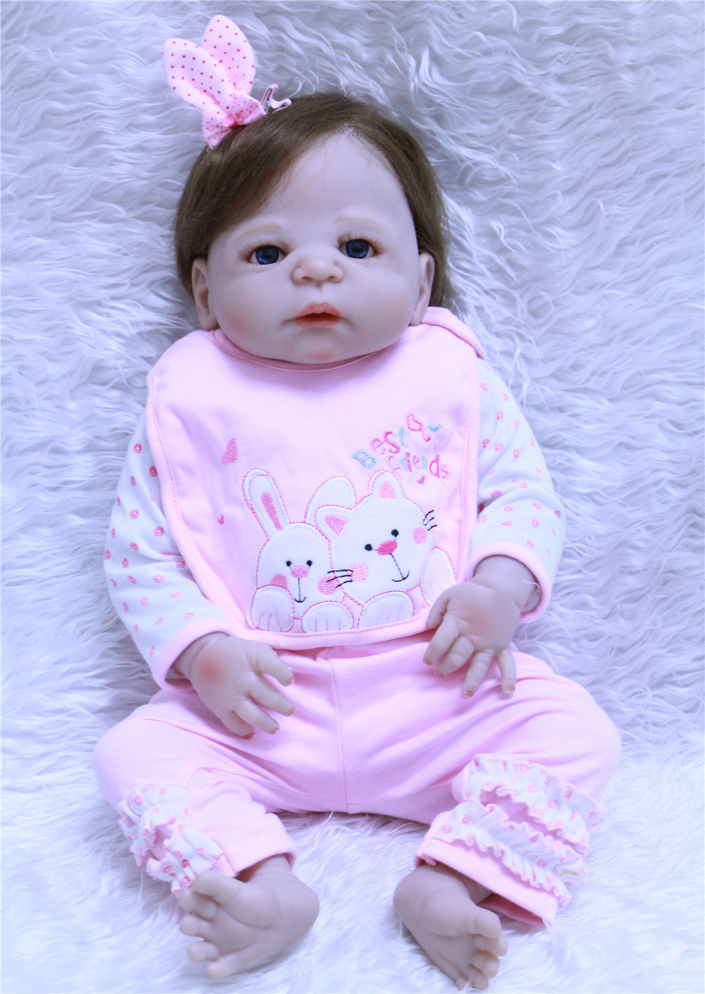 girl bebe 22 inch Silicone Reborn Babies Dolls Brinquedos Dolls For Girls Vinyl Realistic Doll Reborn Kids Christmas Gifts Toys npkdoll bebe reborn baby doll realistic soft silicone reborn babies juguetes girl 22 inch 55cm adorable kids brinquedos toy