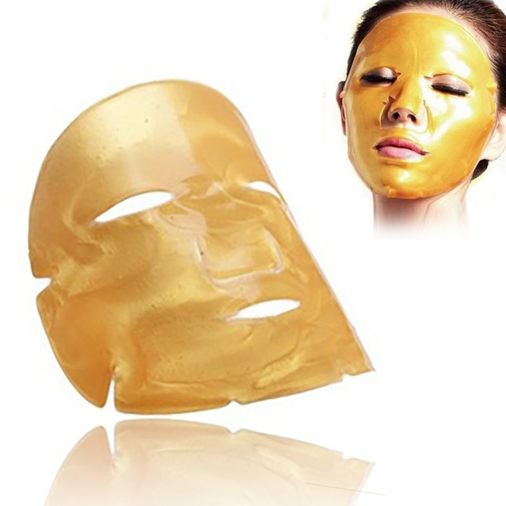 1pcs 24K Gold Mask For The Face/eye/lip Collagen Skin Care Moisturizing Brightening Hydrating Face Masks Brighten And Tighten