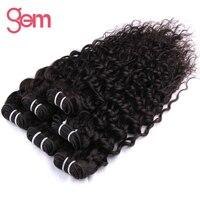 [Gem Beauty Supply] Indian Krullend Haar Weave Bundels 100% Human Haarverlenging 1 Stk/partij Natuurlijke Zwart Niet Remy Hair Gratis Schip