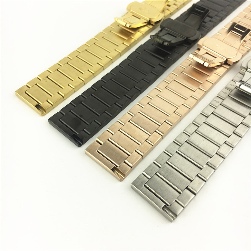 ForHuawei Samsung S2 S3 Smart Watch Accessories Stainless Steel Bamboo Steel Watchband 1618 20 22mm in Watchbands from Watches