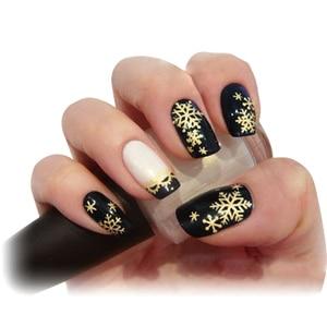 Image 5 - 1 Box Nail Glitter Christmas Gold Snowflakes Nail Art Sequins Powder Dust Flakes 3D Charm Decoration UV Gel Polish Tips JI889