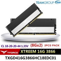Team Group T FORCE GAMING DDR4 STREEM Desktop memory 8GX2(16G) 3886 4000MHz Gaming computer RAMs 288 pins CL18 20 20 44 1.35V