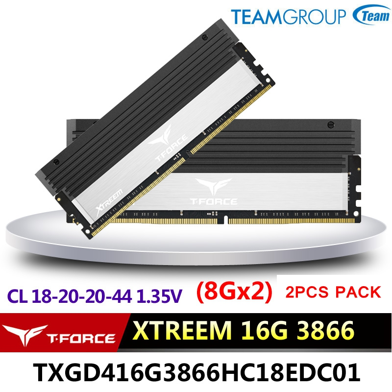 Team Group T-FORCE GAMING <font><b>DDR4</b></font> STREEM Desktop memory 8GX2(16G) 3886 <font><b>4000MHz</b></font> Gaming computer RAMs 288 pins CL18-20-20-44 1.35V image