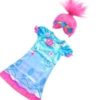 4 5 6 7 8 9 10 11 12 Années Vieux Enfants Trolls robes pour Fille Princesse D'été Robe Kiz Cocuk Elbise Robe Princesa Meisjes Jurk