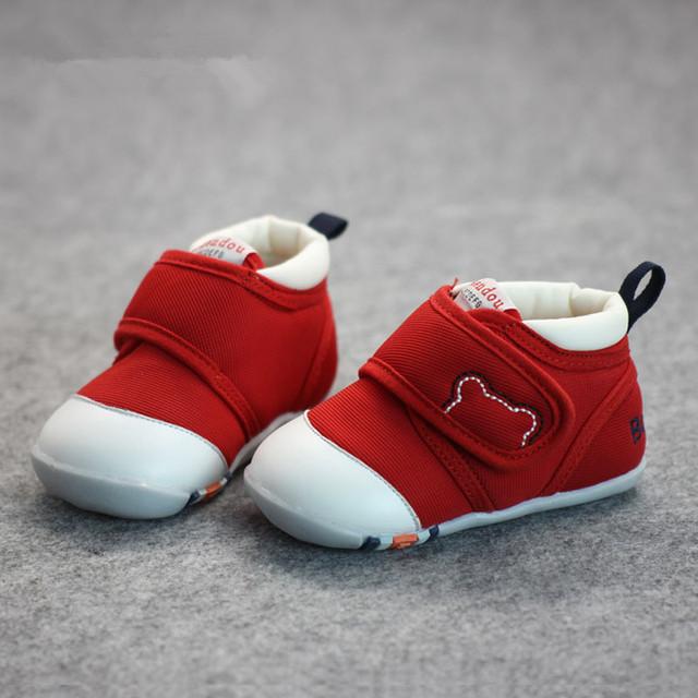 Outono bebê infantil sapatos de bebê menina sapatos de lona sola macia sapatos de bebê primeira caminhantes não-escorregar sapatos de bebê menino da criança sapatos