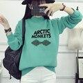 ARCTIC MONKEYS письмо печати футболка женщины хлопок полный рукав пуловер толстовка мода капюшоном зима женщины повседневная толстовка