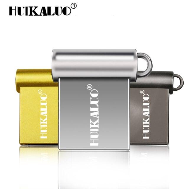 HUIKALUO Super mini metal memory stick 8gb 16gb 32gb 64gb 128gb usb flash drive pendrive flash usb stick USB2.0 pen drive U disk
