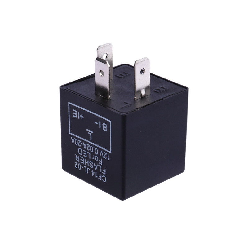 12V 3-Pin LED Flasher Relay Car Auto Turn Signal Indicator Blinker Flasher FJ