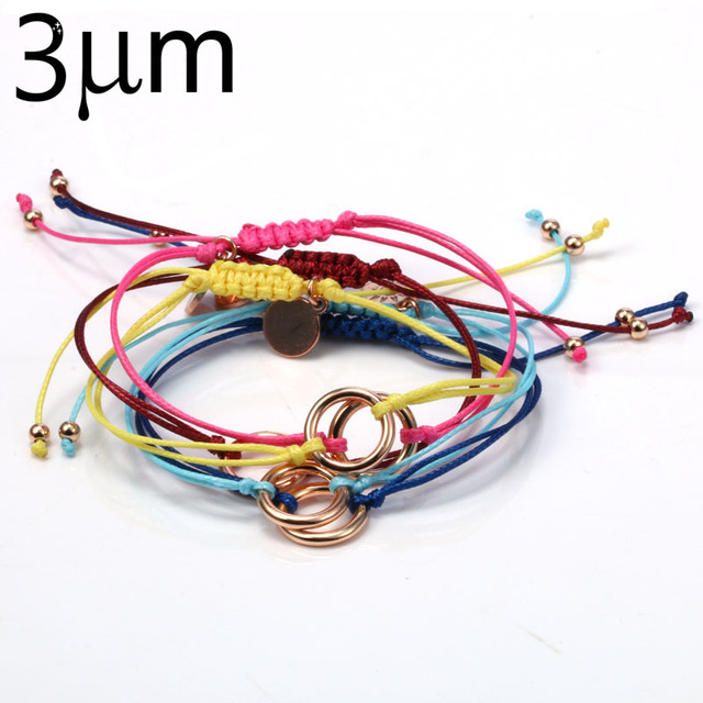 5pcs Adjule Wrap Bracelet Wax Cotton Cord Braided Macrame Handmade Karma Bracelets Artificial Jewelry Beach Summer