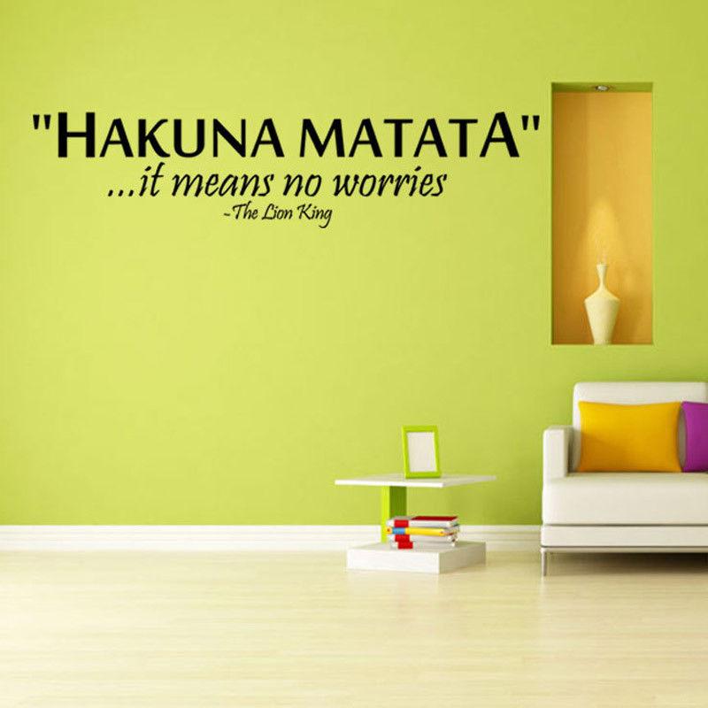 Exelent Hakuna Matata Wall Decor Gift - Wall Art Collections ...