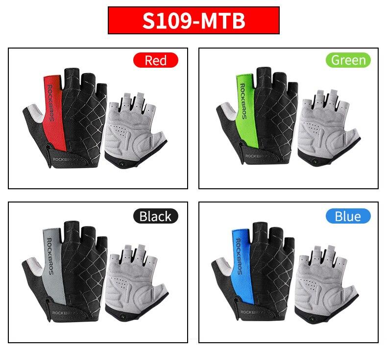HTB1ABL7OFzqK1RjSZFvq6AB7VXao - ROCKBROS Cycling Gloves MTB Road Gloves Mountain Bike Half Finger Gloves Men