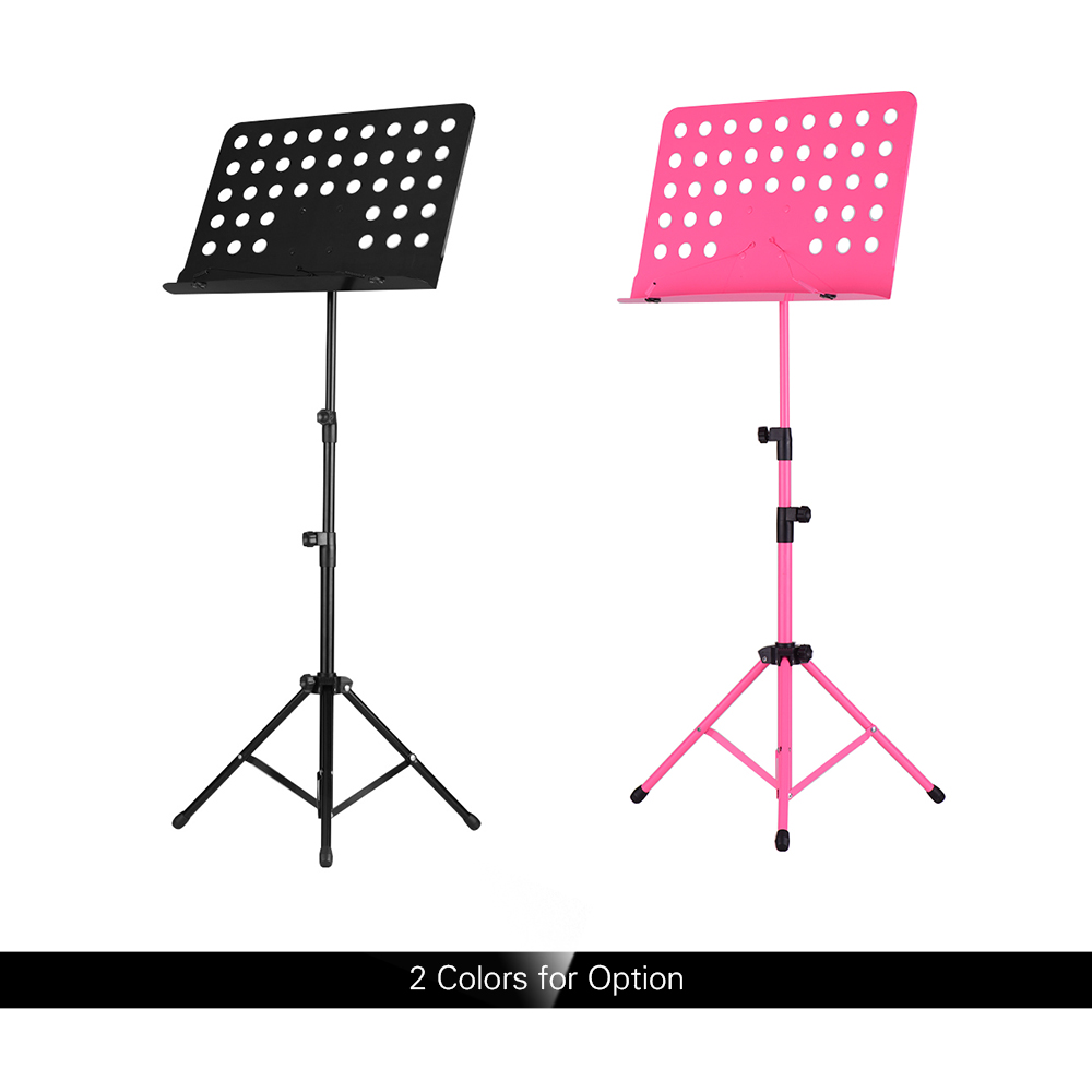Portable Metal Music Stand Detachable Musical Instruments For Piano Violin Guitar Sheet Music Stand Black/Pink
