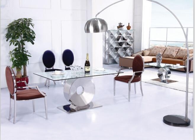Rvs tafel stoelen koop goedkope rvs tafel stoelen loten van chinese rvs tafel stoelen - Moderne eettafels ...