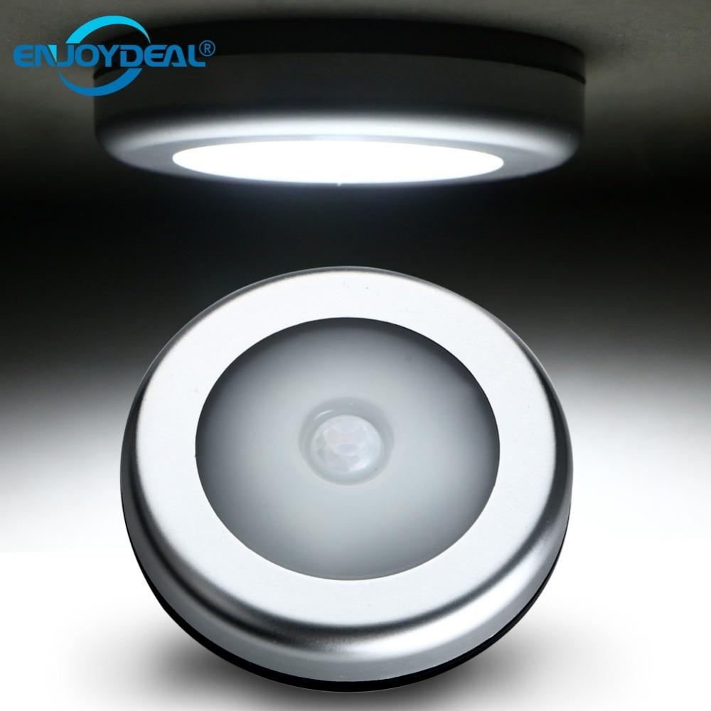 6 светодиодный движения PIR Сенсор активированный ночник гардероб коридор шкаф лампы индукции магнитного настенный светильник использовать 3x AAA батареи