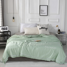 2019 New Solid Green Butterfly knot Bedspread Summer Quilt Tencel Blanket Comforter Bed Cover Quilting Home Textiles solid gray butterfly knot bedspread summer quilt tencel blanket comforter bed cover quilting home textiles
