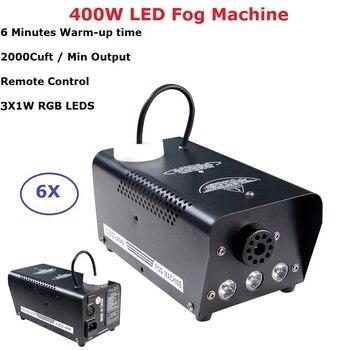 6XLot Wireless Remote Control LED 400W Smoke Machine RGB Colors Fog Professional Fogger Stage Ejector