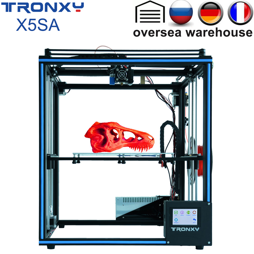 Tronxy X5SA 3D Printer 3.5 inches FDM Touch Screen DIY 0.4mm nozzle high precision Auto leveling 330x330x400mm Filament Sensor image