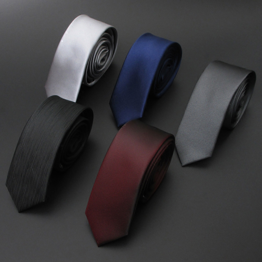 High quality Wedding Polyester silk Solid color Ties For Men Suit Skinny Mens Ties Neck Tie Cravat Business shirt accessories