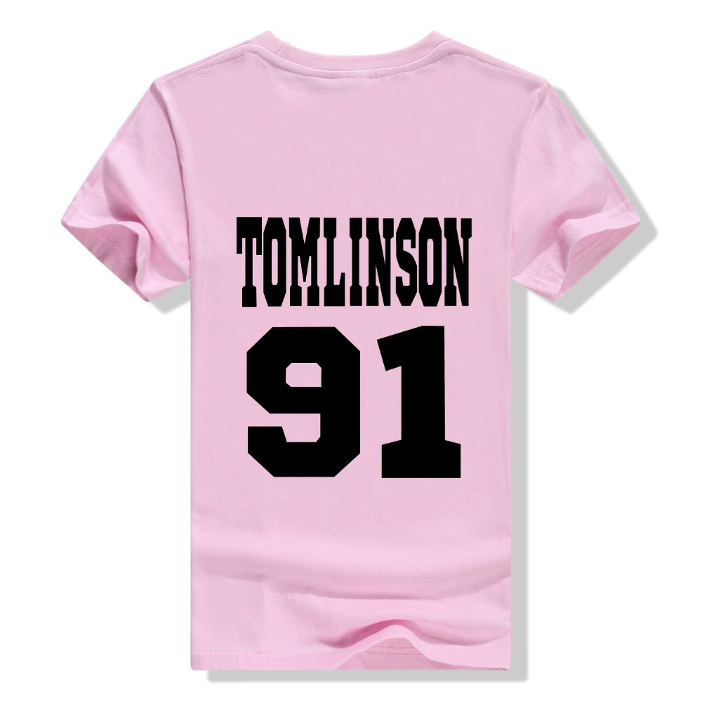 Design t shirt one direction - Free Shipping Tomlinson 91 Louis Tomlinson T Shirt One Direction Directioner Pop Rock 1d Tee Women