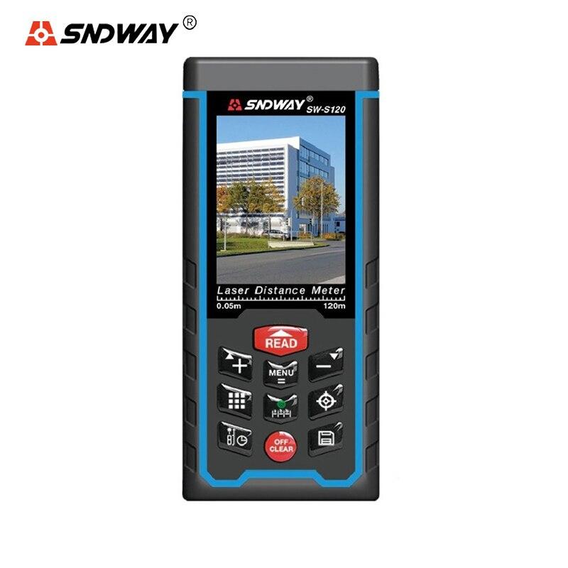 все цены на SNDWAY Digital Range Finder Laser Distance Meter SW-Q80/SW-S80 SW-Q120/SW-S120 Electronic Measure Tape Trena Ruler Angle 80/120M онлайн