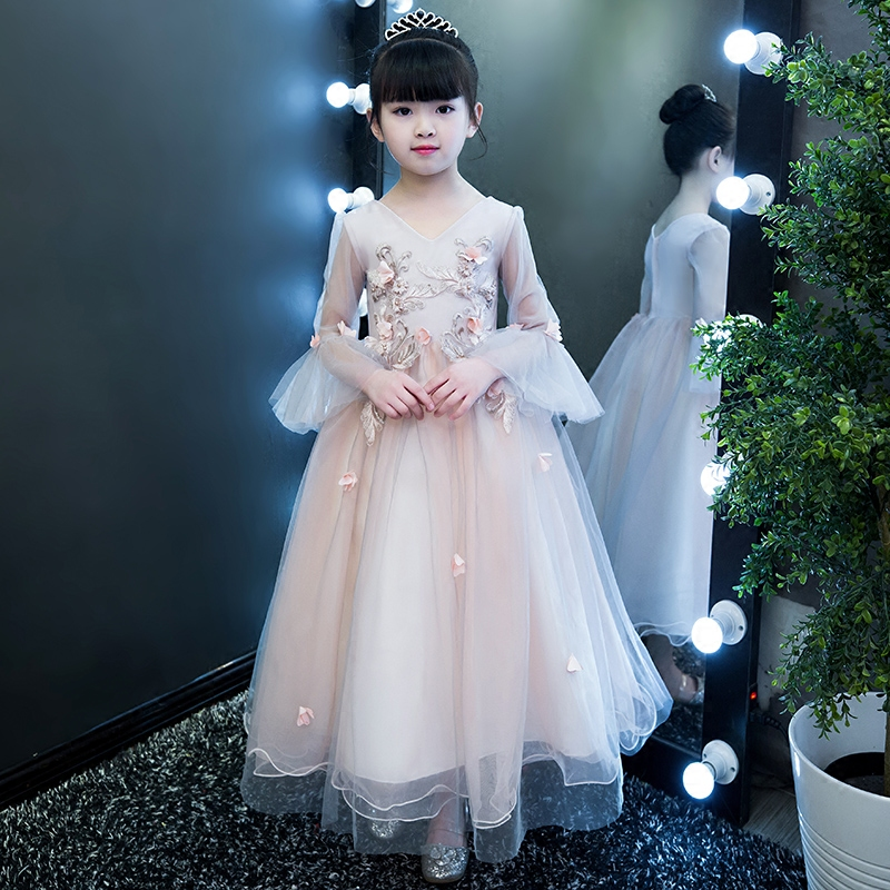 New Sring Children Dresses For Girls Kids Formal Wear Princess Dress For Baby Girl 5~13Years Birthday Wedding Formal Party Dress